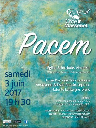 Chœur Massenet : Pacem 2017