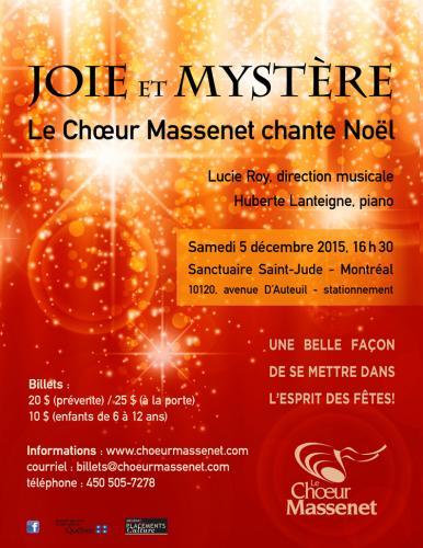 Chœur Massenet : Joie et Mystère 2015