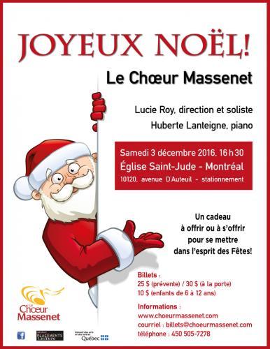 Chœur Massenet : Joyeux Noël 2016
